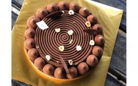 Chocolate Crème Brûlée Tarte 8in